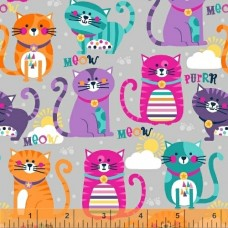 Cubby Bear Flannel Prints 50671-5 cats