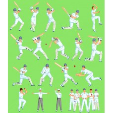 Cricket Players 6056D